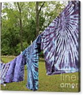 Not Fade Away - Spiral Dyes Acrylic Print