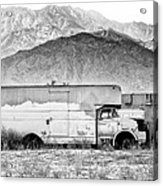 Not In Service Bw Palm Springs Acrylic Print