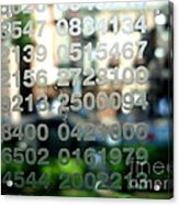 Not Just Numbers Acrylic Print