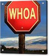 Not Your Ordinary Stop Sign Acrylic Print