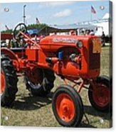 Nothing Like A Tractor Show Acrylic Print by Victoria Sheldon