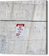 Notice Sign Acrylic Print