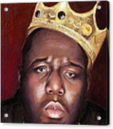 Notorious Big Portrait - Biggie Smalls - Bad Boy - Rap - Hip Hop - Music Acrylic Print