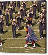 Notre Dame Band Acrylic Print by David Bearden