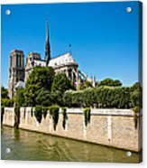 Notre Dame Cathedral And The Seine Acrylic Print