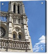 Notre Dame Cathedral Paris Tower Acrylic Print