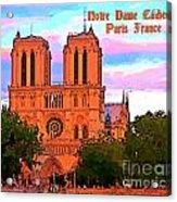 Notre Dame Cathedral Poster Acrylic Print