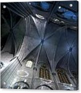 Notre Dame Ceiling In Blues Acrylic Print