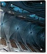 Notre Dame Ceiling North In Teal Acrylic Print