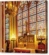 Notre Dame Chapel Acrylic Print
