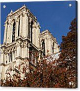 Notre-dame De Paris - French Gothic Elegance In The Heart Of Paris France Acrylic Print