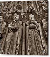 Notre Dame Facade Detail Acrylic Print