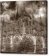 Notre Dame From East Garden Acrylic Print