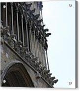 Notre Dame Gargoyle Row - Dijon Acrylic Print