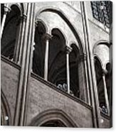 Notre Dame Gothic Arches Acrylic Print