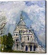 Sacre Coeur In Paris Acrylic Print