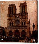 Notre Dame - Paris Acrylic Print by Soumya Bouchachi
