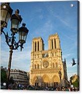 Notre Dame Tourists Acrylic Print