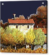 Notte In Campagna Acrylic Print by Guido Borelli