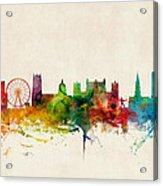 Nottingham England Skyline Acrylic Print