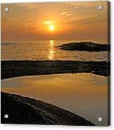 November Sunrise II - Lake Superior Acrylic Print by Sandra Updyke