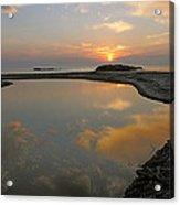 November Sunrise-lake Superior Acrylic Print