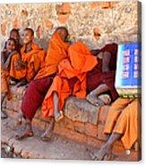 Novice Buddhist Monks Acrylic Print