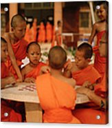 Novice Monks Acrylic Print