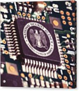 Nsa Computer Chip Acrylic Print