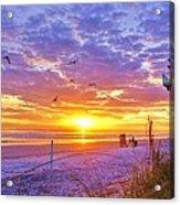 Nsb Lifeguard Station Sunrise Acrylic Print