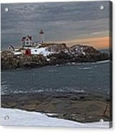Nubble Light Christmas Acrylic Print