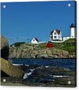 Nubble Light House York Beach Maine Acrylic Print
