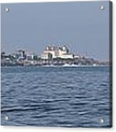 Nubble Lighthouse From Long Sands Beach Panorama Acrylic Print