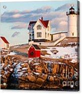 Nubble Light York Maine Acrylic Print