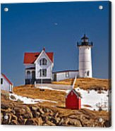 Nubble Lighthouse 3 Acrylic Print