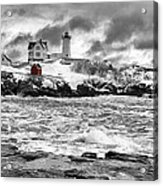 Nubble Lighthouse After The Storm Acrylic Print