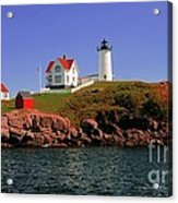 Nubble Lighthouse-cape Neddick Acrylic Print