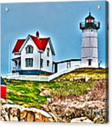 Nubble Lighthouse Cape Neddick Maine 2 Acrylic Print