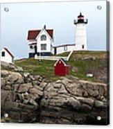 Nubble Lighthouse Cape Neddick Maine 4 Acrylic Print by Glenn Gordon
