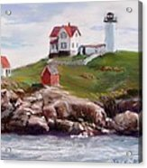 Nubble Lighthouse In Pastel Acrylic Print