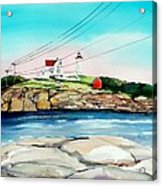 Nubble Lighthouse Maine Acrylic Print by Scott Nelson
