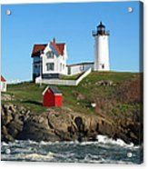 Nubble Lighthouse One Acrylic Print