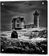 Nubble Night Acrylic Print by Tricia Marchlik