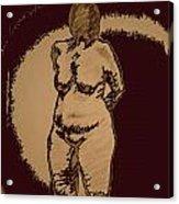 Nude Acting Acrylic Print