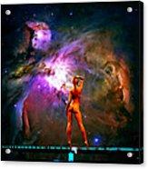 Nude Amongst The Stars 3... Acrylic Print