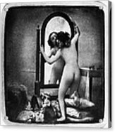 Nude And Mirror, C1850 Acrylic Print