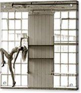 Nude Collar And Window Acrylic Print