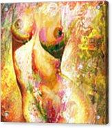 Nude Details - Digital Vibrant Color Version Acrylic Print
