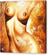 Nude Details Acrylic Print by Emerico Imre Toth