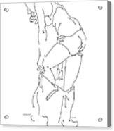 Nude Female Drawings 1 Acrylic Print